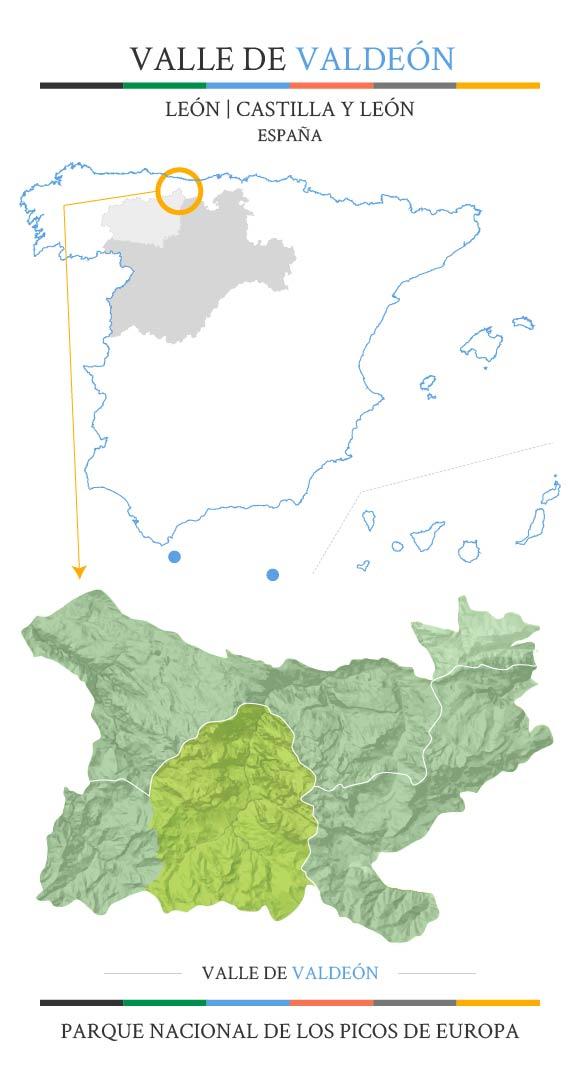 Mapa situación Valle de Valdeón